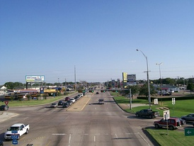 SH 121 Business west from IH-35E towards Grapevine