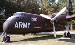 C-7 on display at the 82nd Airborne Division War Memorial Museum, once used by the Golden Knights parachute team