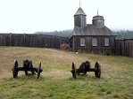 Cannons & Chapel, Fort Ross State Historical Monument, CA 7-5-2010 5-59-11 PM.JPG