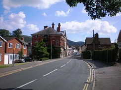 Shrewsbury Road (the B5477), looking south towards the town centre