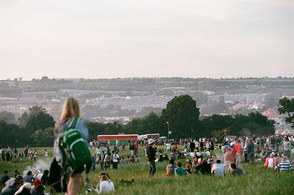 View across the festival