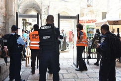 Metal detectors at the Temple Mount