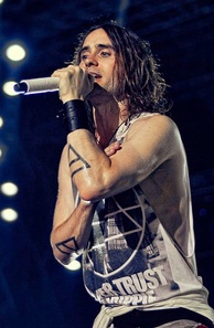 Leto performing in Padova, Italy in July 2013