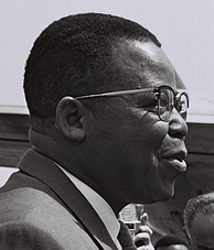 The leader of ABAKO, Joseph Kasa-Vubu, first democratically elected President of the Republic of the Congo (Léopoldville)