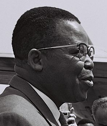 The leader of ABAKO, Joseph Kasa-Vubu, who later became the independent Congo's first President