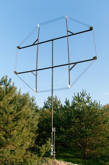 "Although a full 2.7 meters in diameter, this receiving antenna is a ""small"" loop compared to LF and MF wavelengths."