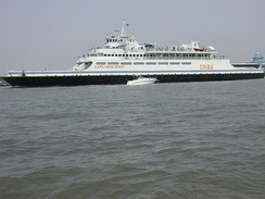 The Cape May–Lewes Ferry connects New Jersey and Delaware across the Delaware Bay