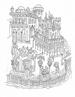 Drawing of the Doge's Palace, late 14th century