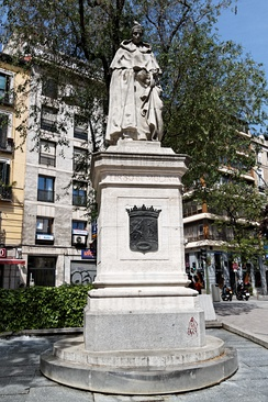 Monument to Tirso de Molina in Madrid (R. Vela, 1943)