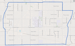 Northridge neighborhood as delineated by the Los Angeles Times