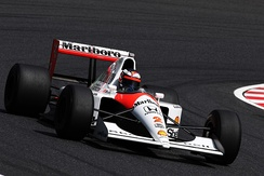 McLaren won the Constructors' Championship with the Honda-powered MP4/6.