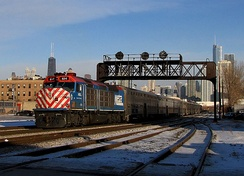 Metra EMD F40C No. 614 in Chicago.