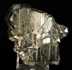 """Bravoite"", Pyrite with a thin coating of Molybdenite, from the old Rico Argentine Mine."