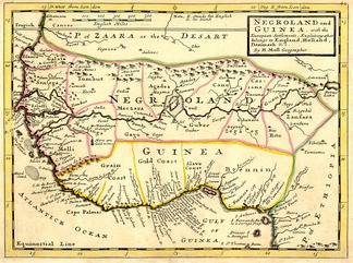 """Negroland and Guinea with the European Settlements"", Herman Moll, 1727"