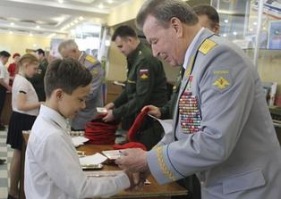 Николай Антошкин принимает в ряды Юнармии. Республика Башкортостан, 2019 год
