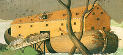 Detail of Noah's Ark, oil painting by Edvard Hicks (1846)