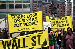Protestors as a part of the occupy wall street movement