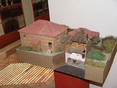 A model of an Albanian house.