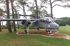 An OV-10 on static display at Hurlburt Field Air Park