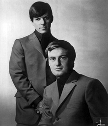 Allen (seated) and Chris Bell as the Allen Brothers, 1967