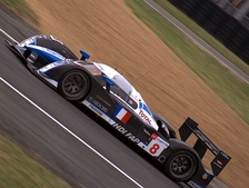The #8 Peugeot 908 HDi FAP, driven by Stéphane Sarrazin, which set a 3:22.222 lap time during the test day