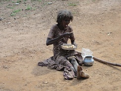 A poor woman in India