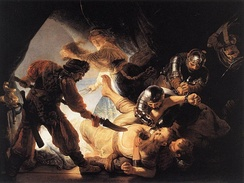 The Blinding of Samson, 1636, which Rembrandt gave to Huyghens