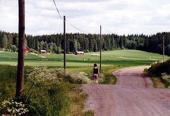 A rural landscape in Lappeenranta, South Karelia, Finland.