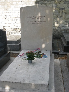 Sartre's and de Beauvoir's grave in the cimetière du Montparnasse.