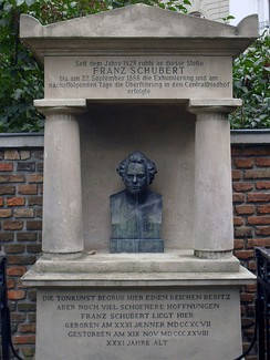 The site of Schubert's first tomb at Währing