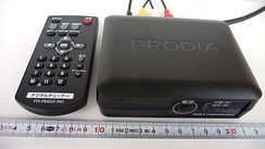 Low cost simple ISDB-T Set-top box (tuner) and remote control, connects to TV set through RCA connector. (very initial model in 2009)