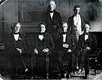 James K. Polk and his Cabinet in 1846. The first Cabinet to be photographed.