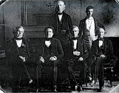 James K. Polk and his Cabinet in 1845: the first Cabinet to be photographed.