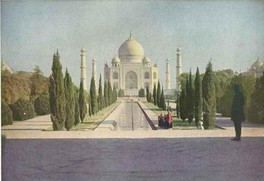 Color photograph of the Taj Mahal. Source: The National Geographic Magazine, March 1921