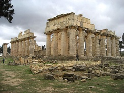 The temple of Zeus in the ancient Greek city of Cyrene