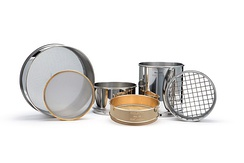 Sieves used for gradation test.