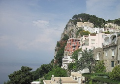 "In 1909–1911 Gorky lived on the island of Capri in the burgundy-coloured ""Villa Behring""."