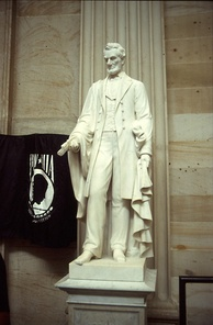 Abraham Lincoln (1871, marble) by Vinnie Ream