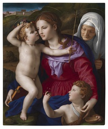 Agnolo Bronzino, Virgin and Child with Saint Elizabeth and Saint John the Baptist, 1540-1545