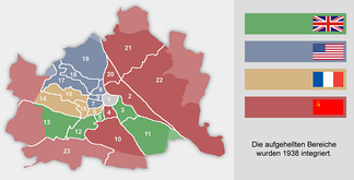 Occupation zones in Vienna, 1945–55