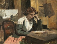 Jean-Baptiste-Camille Corot, Young Girl Reading, 1868