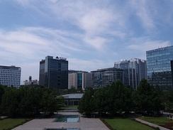 Zhongguancun is a technology hub in Haidian District