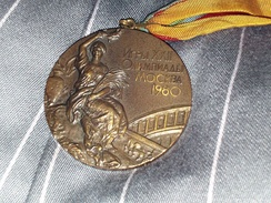 "A ""bronze"" medal – actually tombac – from the 1980 Summer Olympics"