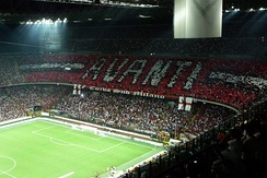 Curva Sud of the San Siro.