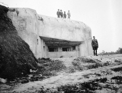 Romanian casemate occupied by Hungarian troops