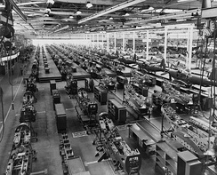 Bell Aircraft Corporation's main factory in Wheatfield, NY (Buffalo / Niagara Falls) during the 1940s. This unit primarily produced the Bell P-39 Airacobra and P-63 Kingcobra.