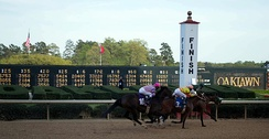 Finish line at the 2013 Arkansas Derby