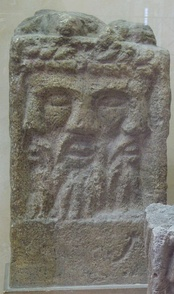 Altar depicting a tricephalic god identified as Lugus