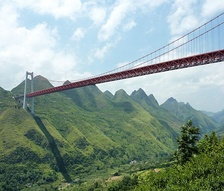 The Baling River Bridge is one of the highest bridges in the world.