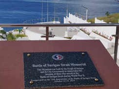 The Battle of Surigao Strait Memorial in Surigao City, Philippines.